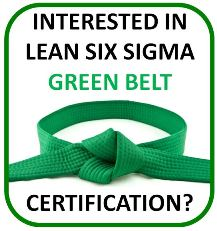 free lean six sigma green belt certification resources training books