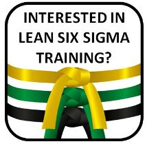 six sigma yellow green black belt training classes