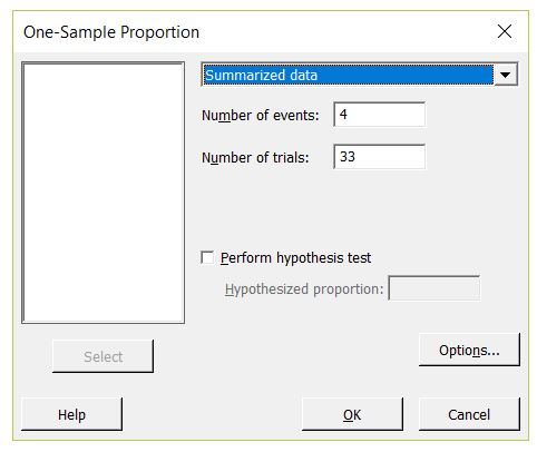 Calculating Confidence Intervals for Proportions in Minitab ...