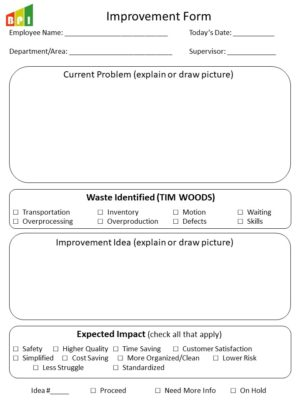 TIM WOODS and DOWNTIME – Lean Wastes Slides – Business Performance
